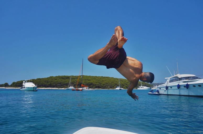 Nick diving