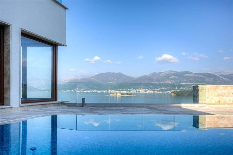 Luxury tourism symbolized by this pool