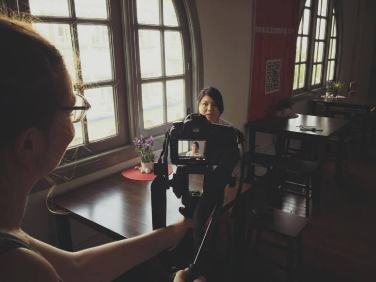 Grace filming