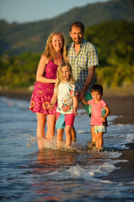 JoEllen and parts of her family in Costa Rica