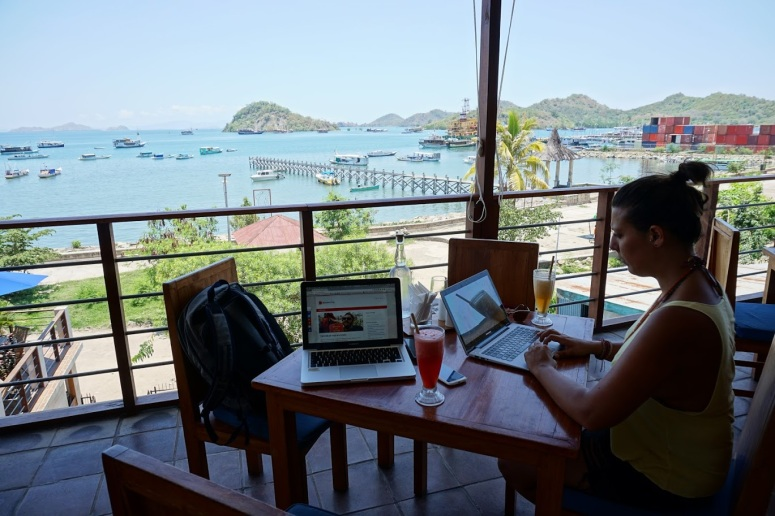 Inês working in Labuan Bajo, Flores, Indonesia.