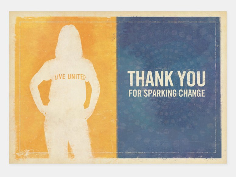 A thank you card for Greater Twin Cities United Way Emerging Leaders.